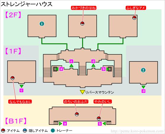 ストレンジャーハウス マップ
