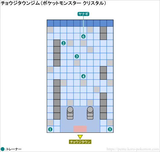 ポケモンクリスタル チョウジタウンジム マップ