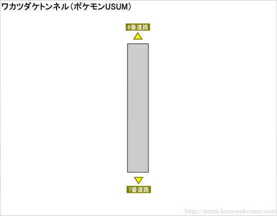 ポケモンウルトラサン・ウルトラムーン ワカツダケトンネル マップ
