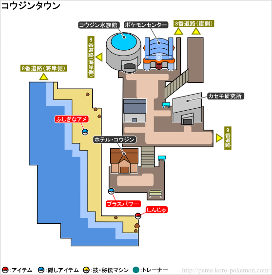ポケモンXY コウジンタウン マップ