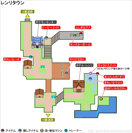 ポケモンXY レンリタウン マップ